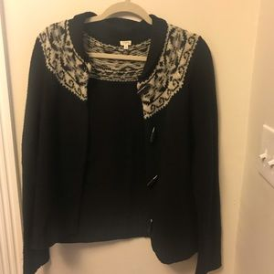 🐝 J. Crew factory toggle sweater cardigan